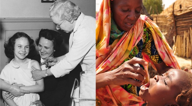 1950s and 1960s when polio was rife